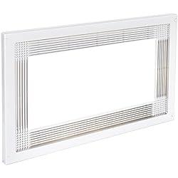Emuca 8934715 Telaio Cornice per Incasso di Forno Microonde in Mobile, Bianco, 60 cm