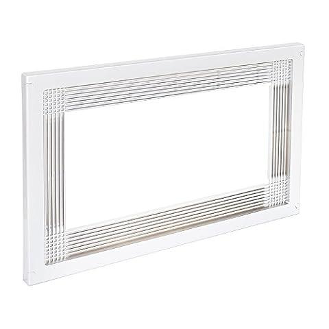 Emuca 8934715 Rahmen zum Einlassen von Mikrowellen in Möbel mit 60 cm aus weißem Kunststoff