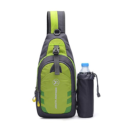 Leicht Sling Bag, wasserdicht Brust Schulter Rucksäcke, Mehrzweck Daypacks Triangle Pack/Umhängetasche für Erwachsene oder Kinder, grün