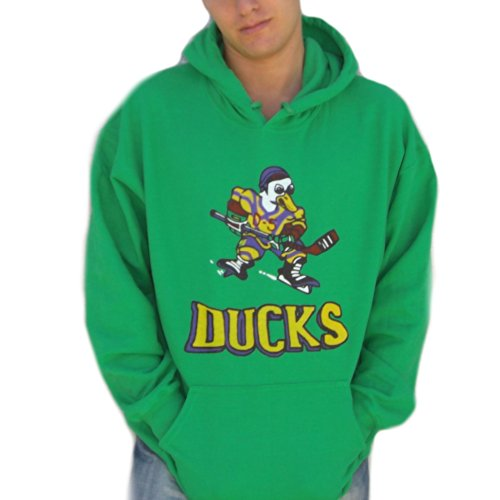 Mighty Ducks Film Hoodie Logo Hockey 90 's Green Erwachsene Gr. L, Grün - Grün (Mighty Ducks-logos)