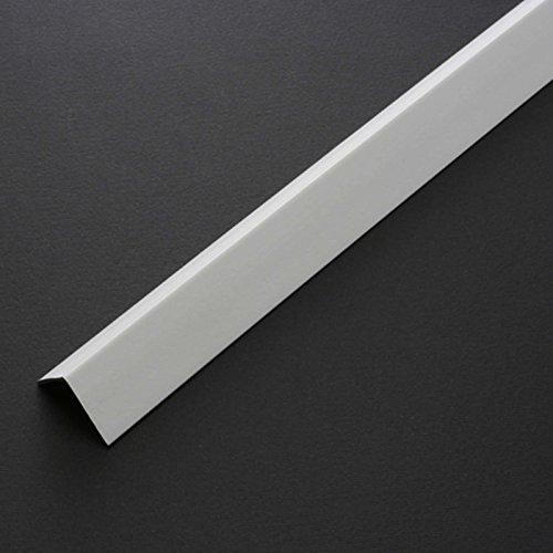 Profilo angolare paraspigolo in plastica pvc bianco mm 22x22 h 2,60
