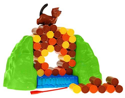 PREMIUM Geschicklichkeitsspiel Biber - Beaver Gesellschaftsspiel Partyspiel Spiel mit hohem Spaßfaktor wie Billy Biber Biberbande Kroko Doc (Baby Kitty Katze Halloween Kostüm)