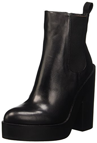 Windsor Smith Player, Scarpe a Collo Alto Donna, Nero (Black Leather), 40 EU