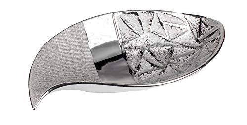 Formano 760739 Moderne Dekoschale Servierschale Obstschale Keramikschale Stone Silber aus Keramik, 35 cm