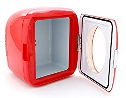 Vivitar 82123-RED-AMX 12 Can Mini Hot & Cold Refrigerator