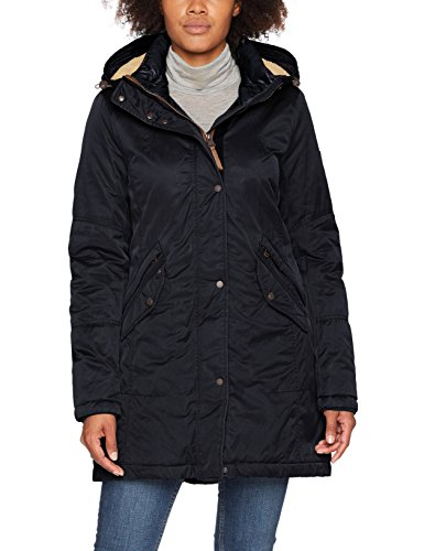 Camel Active Womenswear Damen Mantel 310230, Blau (Navy 40), 48
