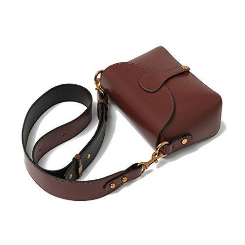 Donna Pelle Anti-Theft Stile Busta Singola Spalla Crossbody Bag Brown