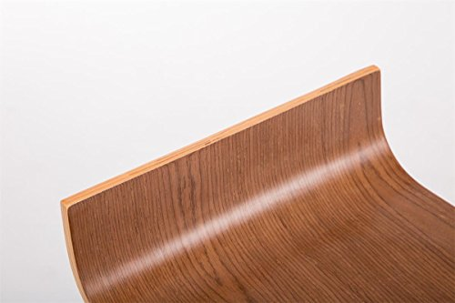 Clp sgabello da bancone wood sgabello bar in metallo cromato e