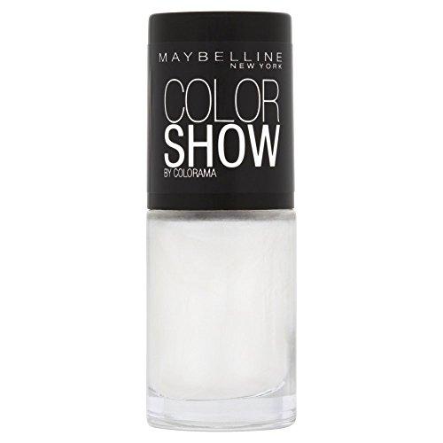 Maybelline New York Make-Up Nailpolish Color Show Nagellack Marshmallow/Ultra glänzender Farblack...