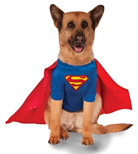 Hunde Superman Kostüm Xxl - Rubie's Big Dogs Superman