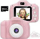 Appareil Photo pour Enfants, Appareil Photo/Vidéo 1080p HD Dual Selfie, Appareil Photo Numérique pour Enfants avec Flash, écran...