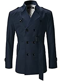 FLATSEVEN Slim Fit Designer Manteau Trench Casual Homme
