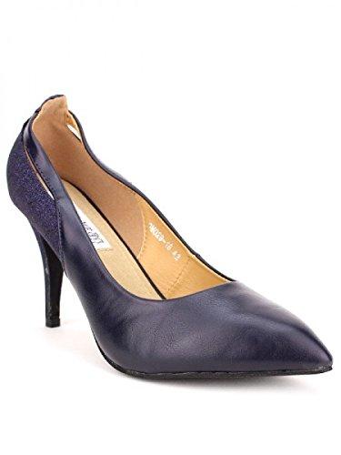 Cendriyon, Escarpin blue ELIKAO Mode Chaussures Femme Bleu