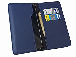 nKarta ™ OD Blue Flip Flap Wallet Pouch Mobile Cover Case with Card holder Slots for Allview P5 Quad