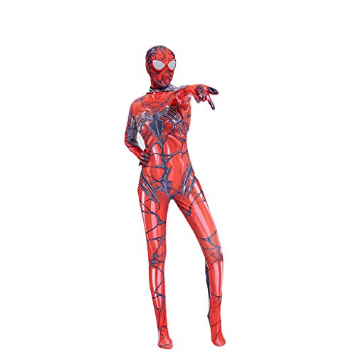 QWEASZER Spider-Man: In den Spider-Vers, Frauen Red Gwen Spiderman Kostüm, Cosplay Kostüm Spider-Man Kostüm Role Play Bodysuit Spandex Jumpsuits,Red Spiderman-XL (Spider Kostüme Frauen)