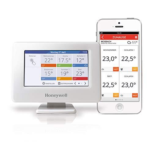 Honeywell Home evohome Wi-Fi Zentrales Bediengerät, weiß, THR99C3100 -