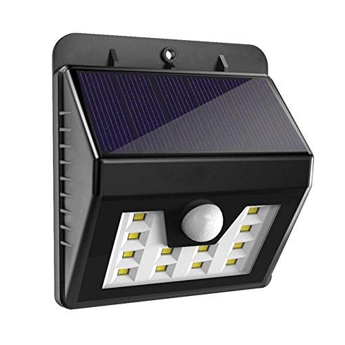 Q&D Im Freien wasserdichte LED-Solar-Wandleuchte 1.2W Solar-Sensor-Licht Solar kleine Solarstrom