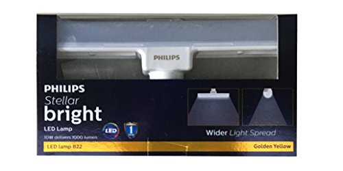 Philips 10W LED T Bulb Base B22   Linear  Warm White/Golden Yellow, Pack of 3   Small