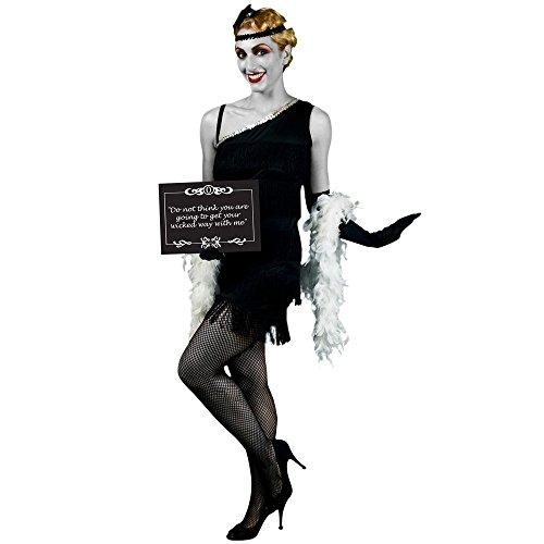 Stummfilm Kostüme (Morphsuits MCCFO20M - Stummfilm Star 1920s Weiblich Kostüm, Größe)