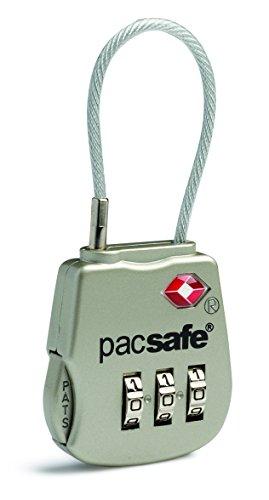 Pacsafe Prosafe 800 Tsa 3 Dial Cable Lock Candado para Equipaje, 8 cm,