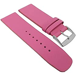 Graf Manufaktur Spree Replacement Watch Strap Leather Band Women's Pink 27092S; Bridge Width: 26 mm