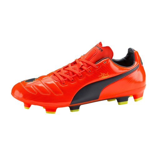 Puma Evopower 3 FG Jr, Chaussures de football mixte enfant - rot / dunkelblau