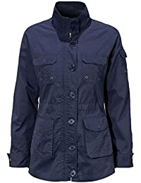 Navy Blue Military Casual Fitted Summer Lightweight Jacket Coat Parka Mac