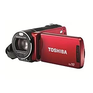 Toshiba Camileo Clip Camcorder - Red (5MP, 5x Digital Zoom) 1.5 inch LCD