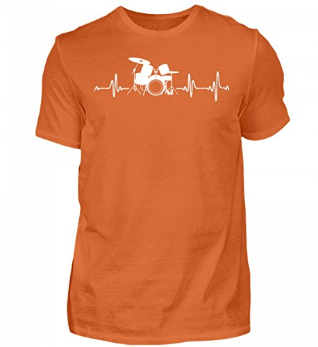 Schlagzeug Shirt · Drummer · Geschenk für Schlagzeuger · Motiv: Drum-Kit Heartbeat - Herren Premiumshirt