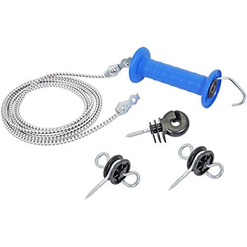 Set Empuñadura y cordón elástico para puerta pastor eléctrico, extensión 3,20m/6,20m