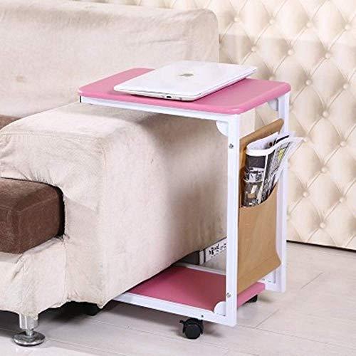JKL- Notebookständer Laptop Tisch Holz Snack Tisch Sofa Couch Kaffee Beistelltisch Bett Beistelltisch Laptop Schreibtisch Moderne Möbel für Home Office, 45x30x60 cm (Color : Pink) - Kaffee-tisch-bücher Pink