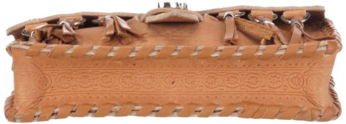 Supertrash Asaddle AS12M065, Borsa a spalla donna, 17 x 13 x 4 cm (L x A x P) Marrone (Braun (Cognac))