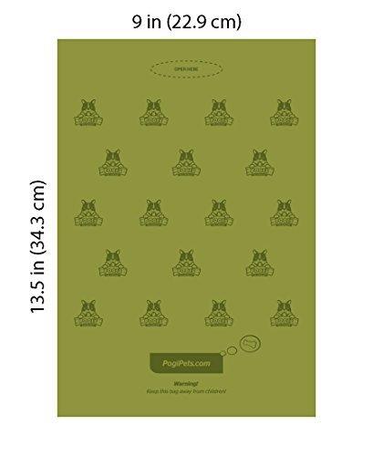 Pogi's Hundekotbeutel – 30 Rollen (450 Tüten) – große, biologisch abbaubare, parfümierte, tropfsichere Hundetüten - 4