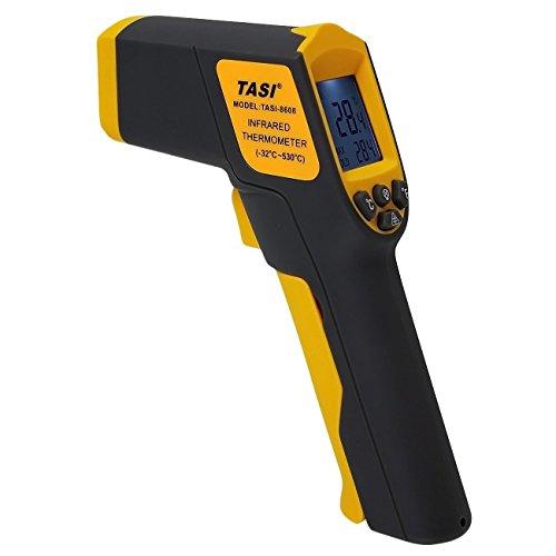 Preisvergleich Produktbild Infrarot Thermometer Laser ,TASI 8608 Kontaktloser Pistole Temperatur Gun( -32°C bis +530°C) mit LCD Hintergrundbeleuchtung