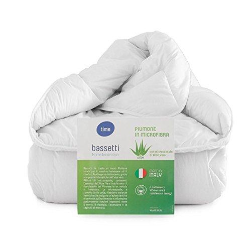 Bassetti Winter Gewicht * * * Bettwäsche; Microfaser mit Aloe Vera Französischen Bettbezug, 200x 200cm (Bettdecke Queen-französisch)