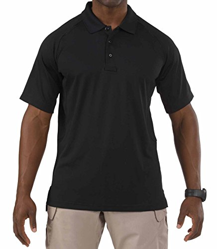 5.11 Herren Performance Polo Short Sleeve Größe L schwarz (Sleeve Short T-shirt Feuer)
