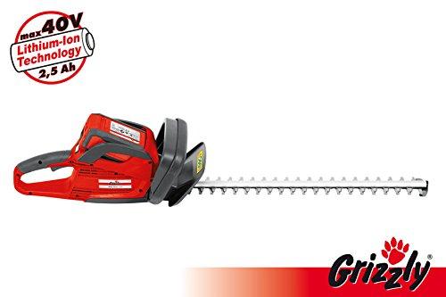 Grizzly Akku Heckenschere Heckentrimmer AHS 4055, Laser-Cut Stahlmesser für Einen Perfekten...