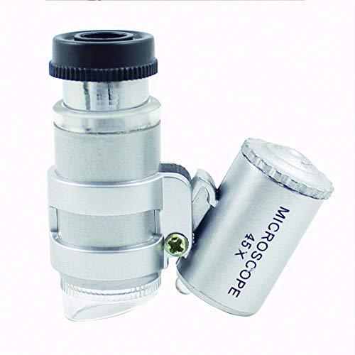 Febelle Mini-Mikroskop mit LED-Lampe Lupe Taschenwartungswerkzeug