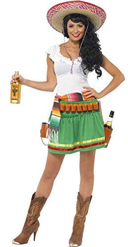 Luxuspiraten - Mexikanerinnen Senorita Kostüm für Damen, S, Mehrfarbig