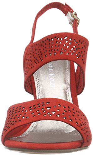 Marco Tozzi - 28309, Scarpe col tacco con cinturino a T Donna Rosso (Rot (CHILI 533))