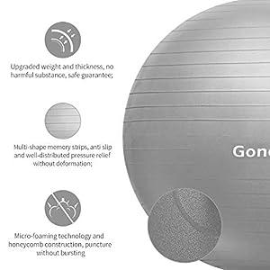 Gonex Ballon Fitness Pompe Incluse