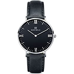 Marc Brüg Ladie's Minimalist Watch Davos 36 Hygge Black