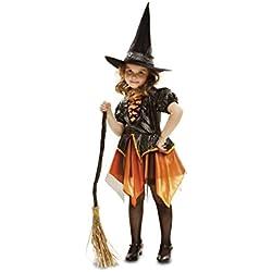 Disfraz de bruja para niña, 3-4 años, color dorado.