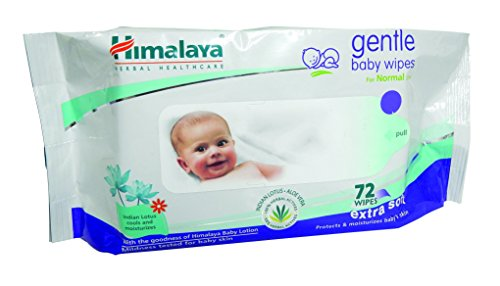 Himalaya Herbal Care Gentle Baby 72 salviette CON Lozione pulisce e