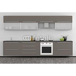 """Alu-Dibond-Bild 60 x 40 cm: """"Moderne Küchenmöbel"""", Bild auf Alu-Dibond"""