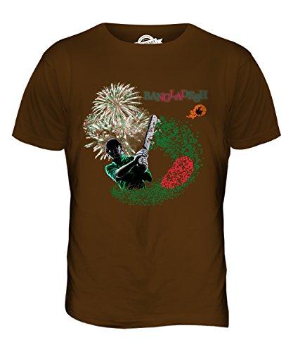 CandyMix Bangladesh Cricket T-Shirt da Uomo Maglietta Marrone