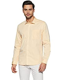 John Miller Men's Solid Slim Fit Synthetic Casual Shirt