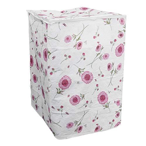 Bestomz coprilavatrice verticale impermeabile con cerniera 87 x 58 x 55 cm (rosa fiore)