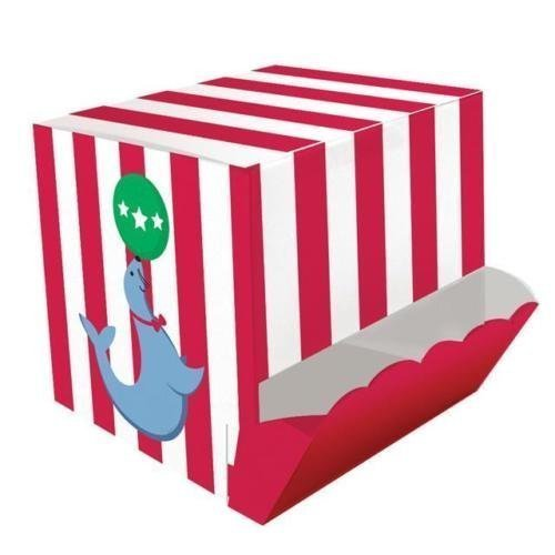 Creative Party Zirkus Zeit! Party Behandeln Box Candy Spender (4 Pack) (4x4 Behandeln-box)