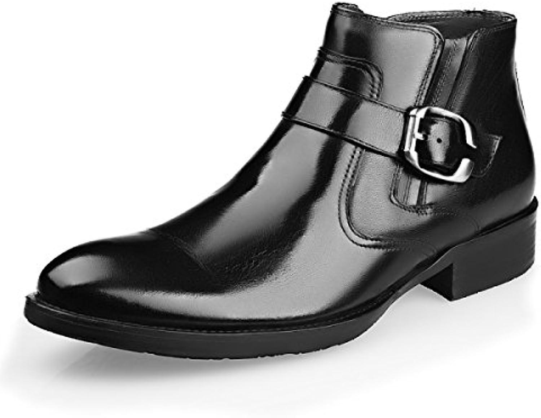 GRRONG Herren Winterstiefel Fashion Martin StiefelGRRONG Winterstiefel Fashion Stiefel Black 40 Billig und erschwinglich Im Verkauf